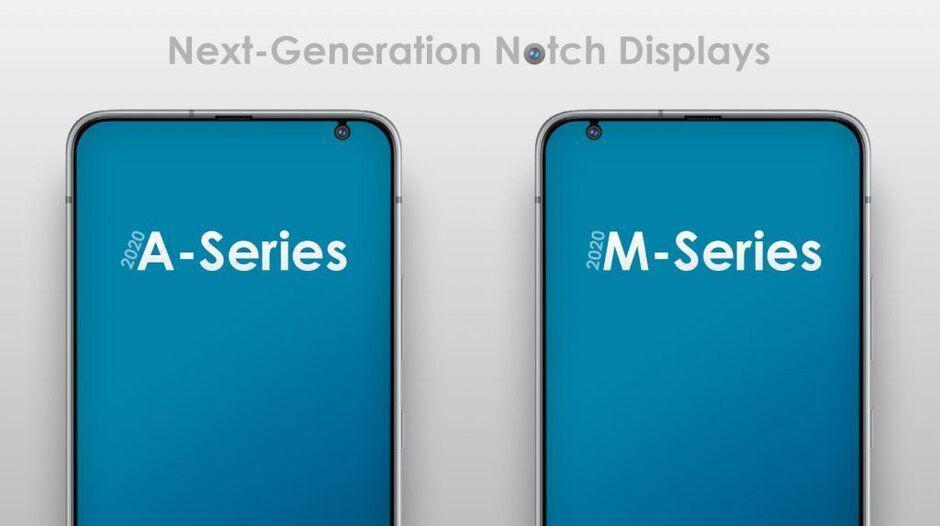 سامسونگ به دنبال تغییر طراحی ناچ در سری Galaxy A و Galaxy M !