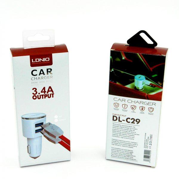 شارژر فندکی LDNIO مدل C29