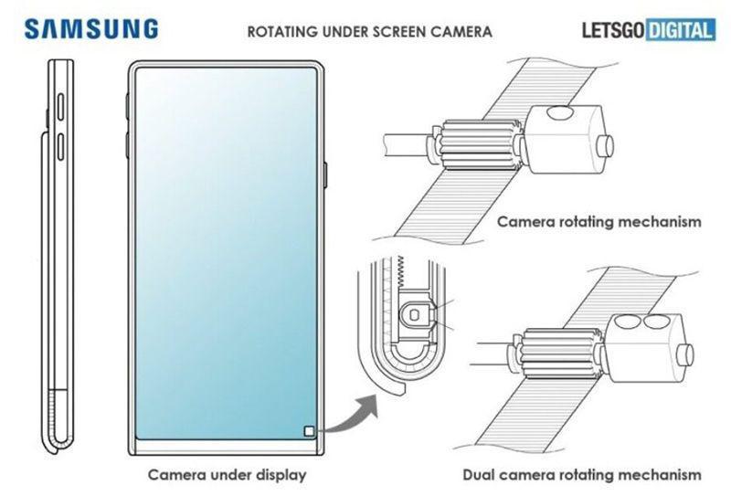 پتنت جدید سامسونگ دستگاهی با نمایشگر رولشونده و دوربین زیر صفحه را نشان میدهد!