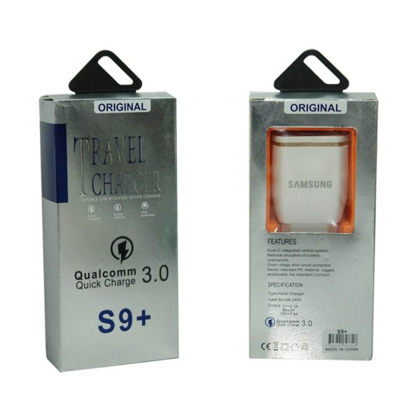 شارژر S9+ سامسونگ کیفیت سرکارتنی عمده