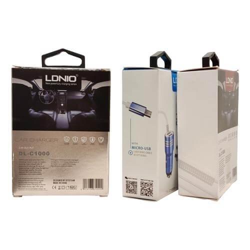 شارژر فندکی LDNIO مدل DL-C1000