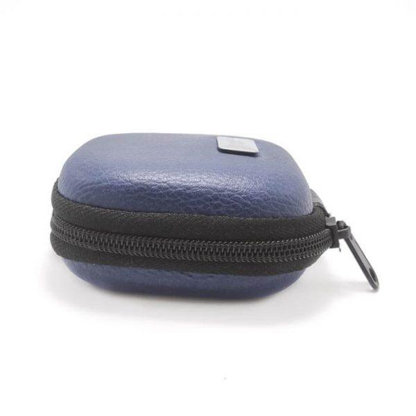کیف هندزفری چرمی سرمه ای