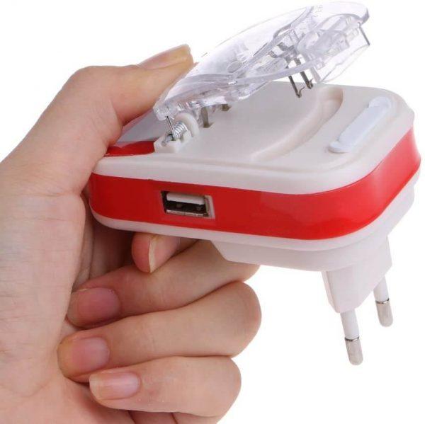 شارژر خرچنگی همه کاره USB دار