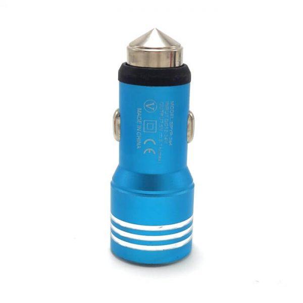 شارژر فندکی فلزی آبی