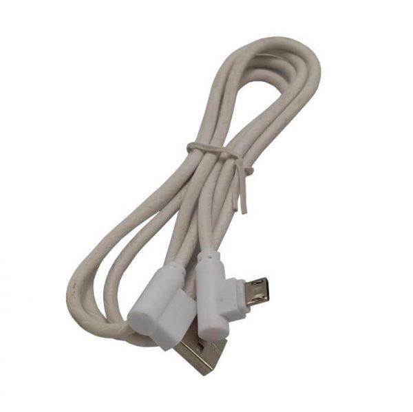 کابل Micro USB سرکج پکدار سفید