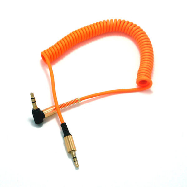 کابل AUX فنری سرکج نارنجی