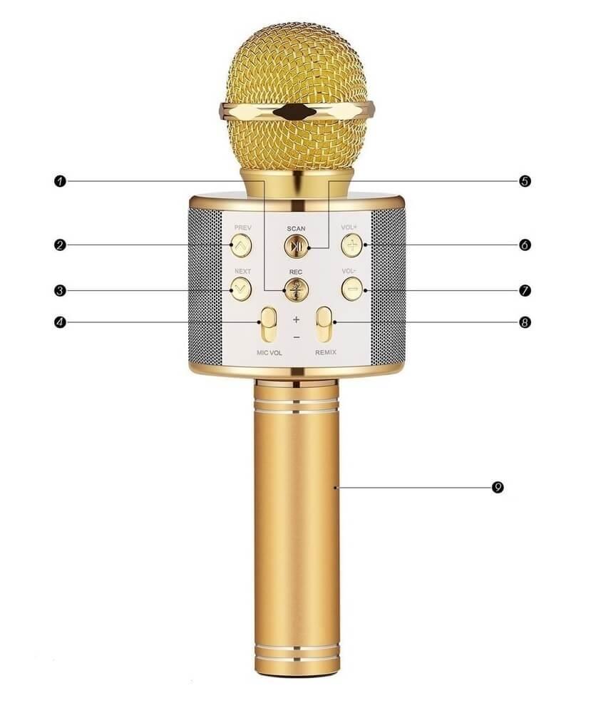 طرز کار میکروفون اسپیکر WS-858