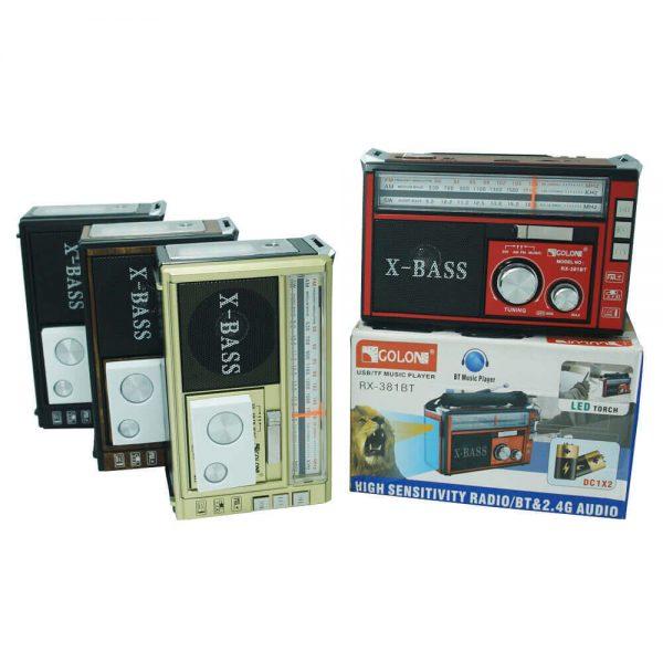 اسپیکر رادیو GOLON مدل RX-381BT