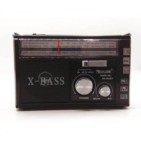 اسپیکر رادیو GOLON مدل RX-381BT مشکی