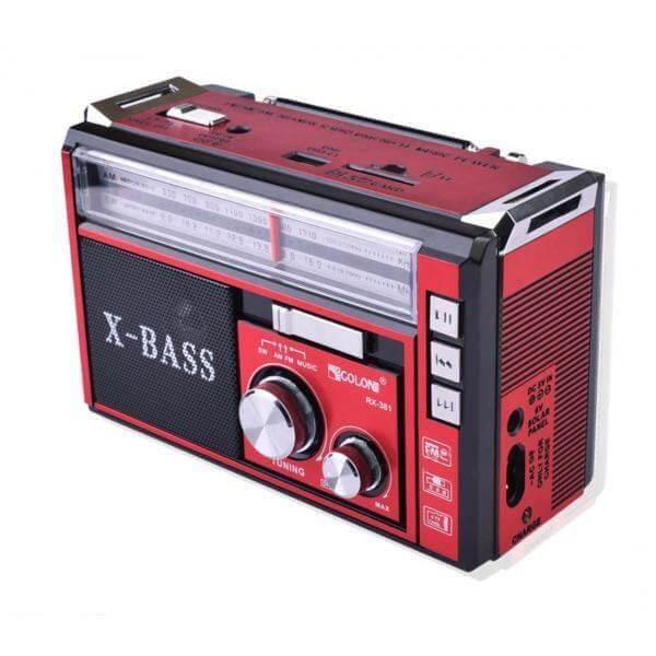 اسپیکر رادیو GOLON مدل RX-381BT قرمز