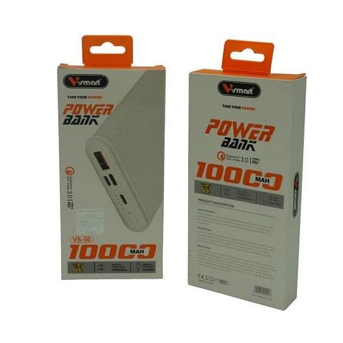 پاوربانک 10000 وی اسمارت مدل VS-50