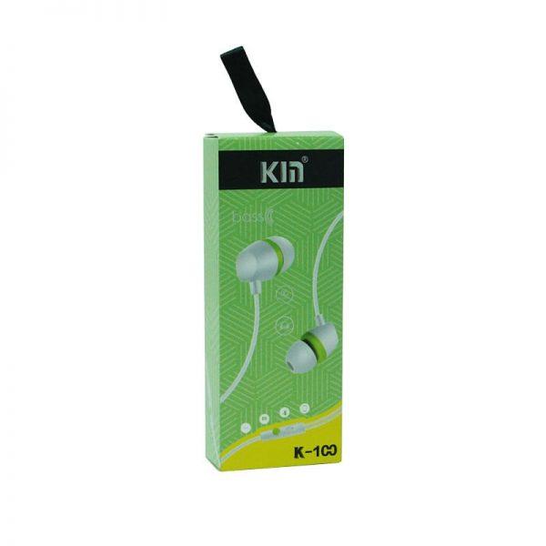 هندزفری Kin مدل K-100 سبز