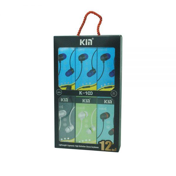 هندزفری Kin مدل K-100 بسته 12 عددی