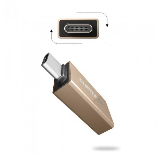 رابط OTG تایپ سی REMAX فلزی بدنه فلزی رنگی
