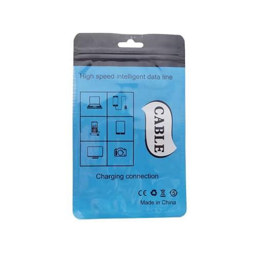 پک پلاستیکی زیپی کد 6 آبی