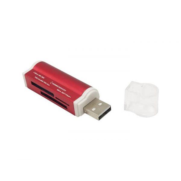 رم ریدر همه کاره فلزی پکدار USB 2.0