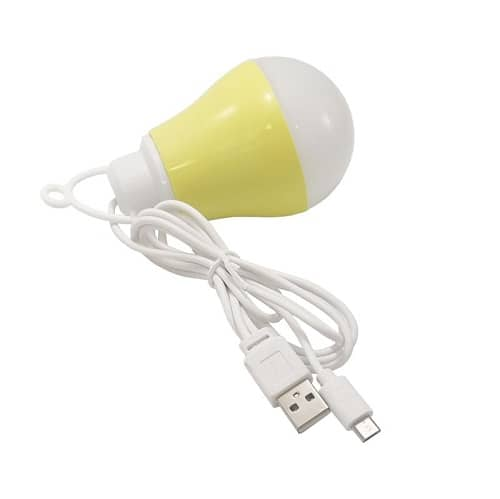 لامپ LED دوکاره USB و میکرو رنگ زرد