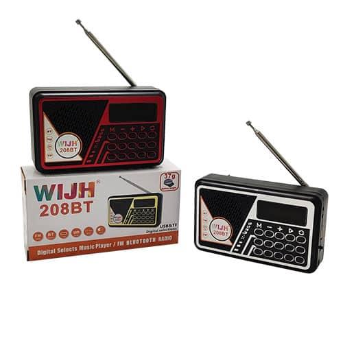اسپیکر و رادیو WIJH مدل 208BT