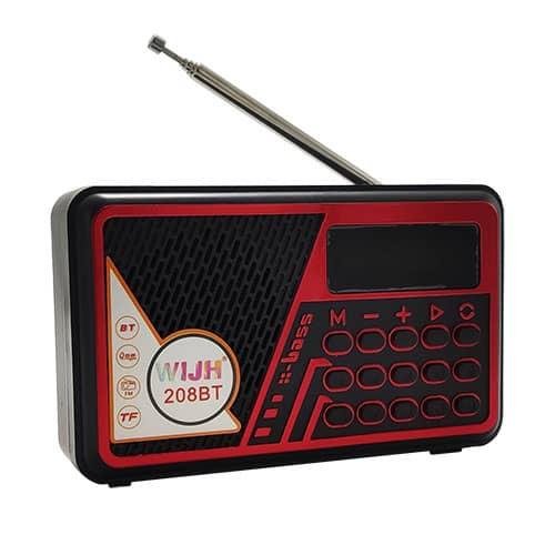 اسپیکر و رادیو WIJH مدل 208BT قرمز