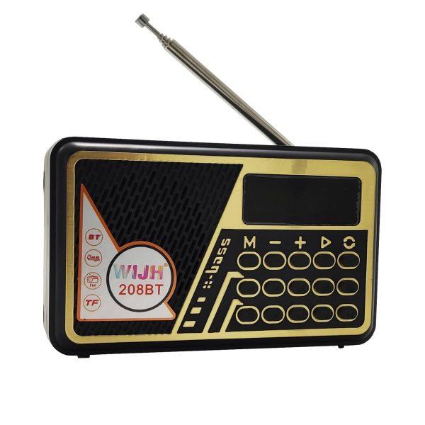 اسپیکر و رادیو WIJH مدل 208BT طلایی