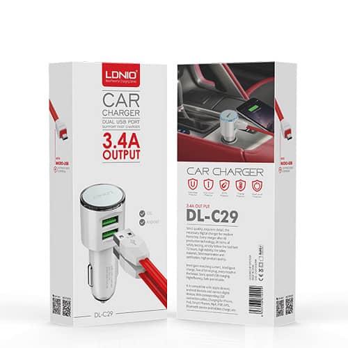 شارژر فندکی LDNIO DL-C29