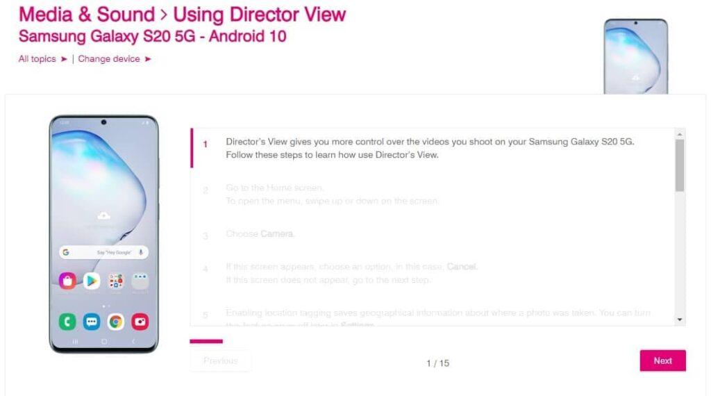 S20 Directors View