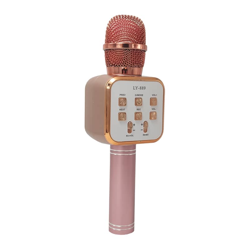 اسپیکر میکروفون مدل LY-889 رزگلد