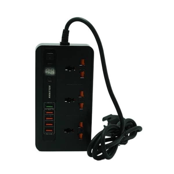 شارژر فست USB چندراهی برق کلومن C3