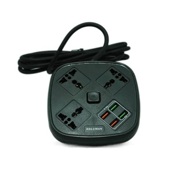 شارژر فست USB چندراهی برق کلومن C1 مشکی